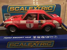 New Boxed 1975 Ford Escort MK2 Roger Clark Welsh Rally Winner Scalextric C3483