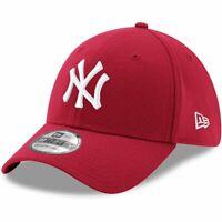 New York Yankees New Era MLB Team 39THIRTY Flex Fit Curve Hat - Cardinal