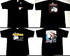 3 Hooters Uniform T-Shirt XXL Sturgis from Harley Bike Rally Fatboy Owl & Flag
