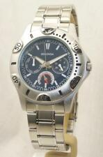 Sekonda 3114 GentsBlue Dial Day Date Stainless Steel Bracelet Watch RRP £59.99