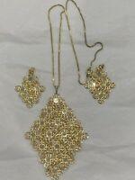 italian gold necklace And Earrings Set