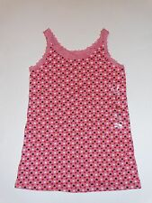 NWT GAP KIDS SMALL 6-7  LACE TRIMMED HEART TANK TOP PINK HEARTS
