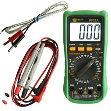 High Quality Back-lit LCD Digital Multimeter + Case, Leads + Thermocouple Probe