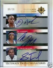 2005 -06' Ultimate Triple Signatures Collection Basketball   #06/10