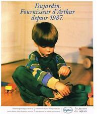 PUBLICITE ADVERTISING   1988    DUJARDIN  VETEMENTS ENFANTS