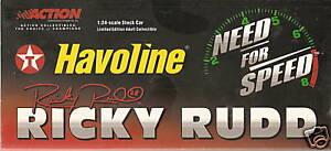 Action 2001 Ricky Rudd Texaco Havoline Taurus 1:24