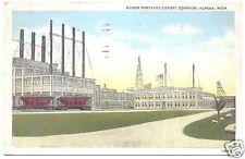 Postcard Huron Portland Cement Co Alpena Michigan 1938