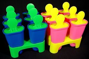 IKEA New Ice Pop Popsicle Mold Maker DIY Juice Bar Blue or Pink