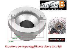 "4226 - Estrattore ""SuperB"" x Ruote Libere da 3/8"" per Bici 20-24-26 Olanda"