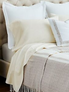 NEW BOLL & BRANCH Percale Hemmed Sheet Set 360 Thread Count Organic Cotton IVORY