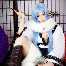 "40"" Long Light Blue Women Straight ZONE-00 Kiritsubo Anime Cosplay Wig+Cap"