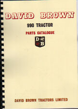 David Brown 990 Implematic Tractor Illustrated Parts Catalogue