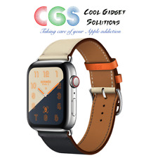 Apple Watch Hermes 44mm Indigo/Craie/Orange Swift Leather Single Tour A2008