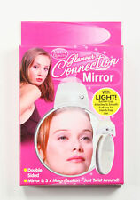 Magnifying Glass Mirror 2 Sided With Light & Suction Cup 3x Magnify Eye Close Up