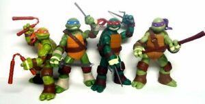 """4 PCS Lot 5"""" Teenage Mutant Ninja Turtles Movie Action Figures, UK SELLER"""