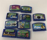 LOT OF 10 LEAPSTER LEAPFROG GAMES SpongeBob, Star Wars, Up, Wall-E, Princess ETC