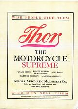 1909 THOR MOTORCYCLE SALES BROCHURE IN .PDF FORMAT ON CD ANTIQUE REPRODUCTION
