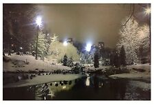 Lighted LED Canvas Wall Art - #151 Winter Park NEW Flickers (47061)