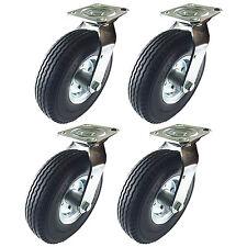 """8"""" x 2-1/2"""" Pneumatic Wheel Caster (Foam-Flat Free) - 4 Swivels"""
