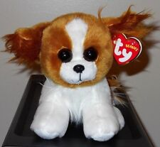 """Ty Beanie Baby ~ BARKS the 6"""" Dog ~ Stuffed Plush Toy ~ 2017 NEW with  MINT TAGS"""