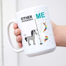Funny Quirky Ceramic Coffee Tea Mug Thank You Gift Other Accountants Me Horse