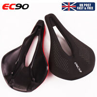 EC90 Saddle Seats Gel Comfort MTB bike Leather Cushion Pad Unisex Adult UK