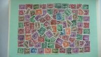 10752 - lot 100 timbres seconds hommes