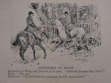 La chasse, Fox & chiens Huntsman-équipements de sport antique punch Cartoon
