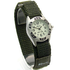 Ravel Kids Night Glow Watch Hook & Loop Strap Army Green 1704.21