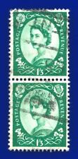1966 SG618 1s3d Green S147 Pair Good Used CV £5.00 ayqb