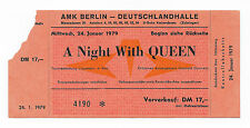 QUEEN : LIVE KILLERS 1979 GERMAN TOUR CONCERT TICKET (BERLIN)