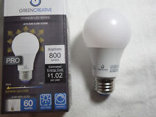 Green Creative 8.5 Watt 60 Watt Equal LED Bulb A19-E26-8.5W-2700K