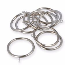 Large 50mm Metal Fixed Eye Curtain Pole Rod Rings Chrome Silver Brass Black Chrome 10