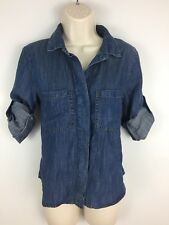 Anthropologie CLOTH AND STONE Tensel Chambray Soft Denim Shirt- XS