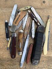 Lot Of Vintage Pocket Knives Case Cattaraugus Schrade