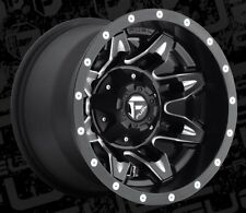 Fuel Lethal D567 15x10 5x4.5/5x4.75 ET-43 Black Wheels Rims (Set of 4)