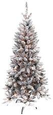 Benross 6ft 180 LED Pre Lit Flock Snow Pine Christmas Tree, Warm White Lights