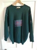 Vintage Pringle Sports Scotland Nick Faldo Collection Green Wool Jumper Large
