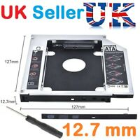 SATA 2nd HDD SSD Hard Drive Caddy for 12.7mm Universal CD / DVD-ROM Optical Bay