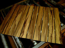 "TEN (10) PIECES THIN, KILN DRIED, SANDED EXOTIC BLACK LIMBA 24 X 3 X 1/4"" WOOD"