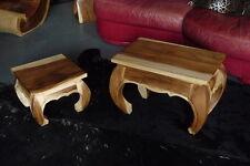 Opiumtisch Holz, 56x35x40cm, Tisch, Couchtisch, Beistelltisch, Sofatisch,Hocker