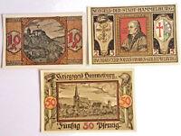 """German  Notgeld /""""Passau/""""5 Mark,1.10.1918 Very Fine Condition Cat#409-01"""