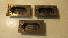 3 Antique Sargent Cast Iron Drawer Pulls