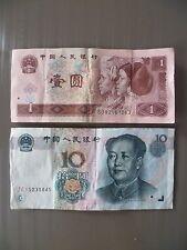 LOT DE 2 BILLET / CHINE 1 & 10 YI YUAN / 1996 & 1999