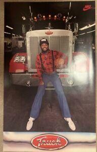 NOS Vintage Original Nike Poster TRUCK ROBINSON New Jersey, Atlanta, Washington