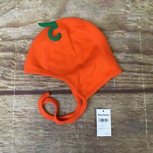 Hanna Andersson Baby Size Small Pumpkin Organic Cotton Halloween Pilot Cap NWT