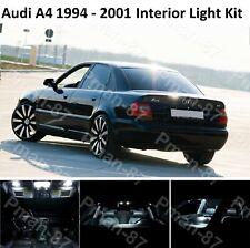 Deluxe Audi B5 A4 S4 1994-2001 INTERIOR WHITE FULL UPGRADE LED LIGHT BULBS KIT