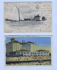 2  Ocean City New Jersey NJ Postcards  1905 Yachting Sailboats Flanders Hotel