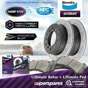Bendix Rear Brake Rotors Pads for Toyota Land Cruiser Prado KDJ 125 KZJ GRJ 120