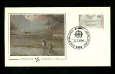Postal History Germany Fdc #1457-1458 Set Of 2 Europa Michelangelo art 1986